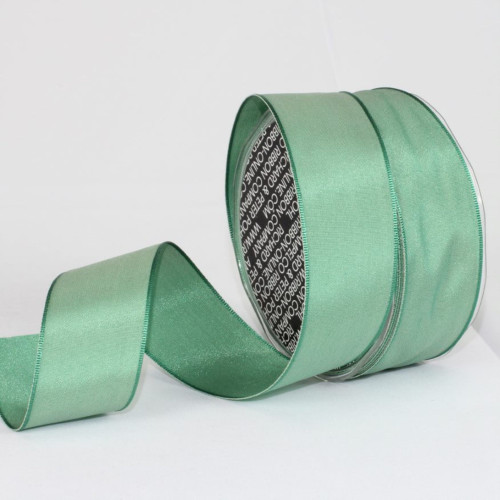 """Jade Green Solid Wired Craft Ribbon 1.5"""" x 27 Yards - IMAGE 1"""