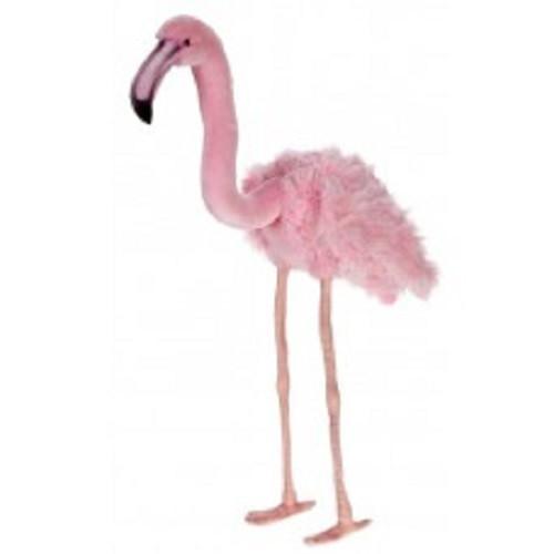 "Set of 2 Pink Handcrafted Soft Plush Flamingo Stuffed Animals 31.25"" - IMAGE 1"