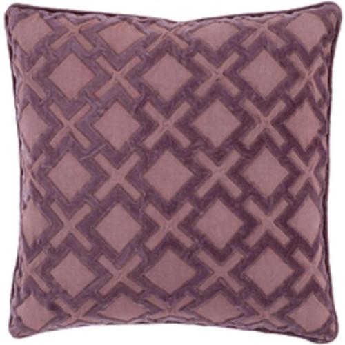 """20"""" Purple Contemporary Geometric Square Throw Pillow - IMAGE 1"""