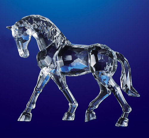 """Pack of 4 Clear Icy Crystal Decorative Horse Figurines 6.5"""" - IMAGE 1"""