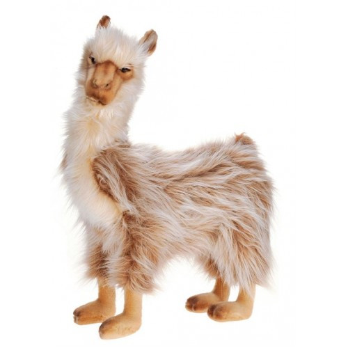 """Set of 2 Brown and White Handcrafted Extra Soft Plush Llama Bull Stuffed Animals 16.75"""" - IMAGE 1"""