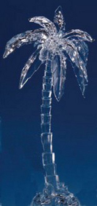 """Set of 4 Icy Clear Decorative Tropical Palm Tree Figurines 15"""" - IMAGE 1"""