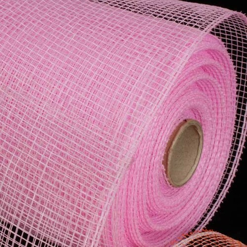 "Pink Decorating Mesh Craft Ribbon 6.5"" x 120 Yards - IMAGE 1"