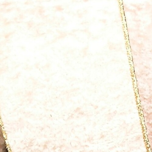 "Ivory and Gold Persian Craft Ribbon 2"" x 20 Yards - IMAGE 1"