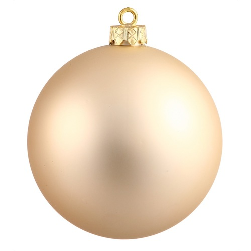 "Matte Champagne Gold Shatterproof Christmas Ball Ornament 2.75"" (70mm) - IMAGE 1"