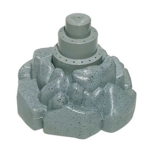 "11"" Gray Floating Rock Style Fountain for Swimming Pool or Spa - IMAGE 1"