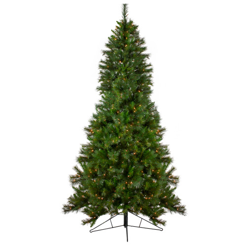 Pre Lit Half Christmas Tree: 7.5' Pre-Lit Canyon Pine Half Wall Artificial Christmas