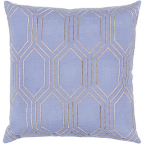 """20"""" Blue and Gray Geometric Square Throw Pillow - IMAGE 1"""