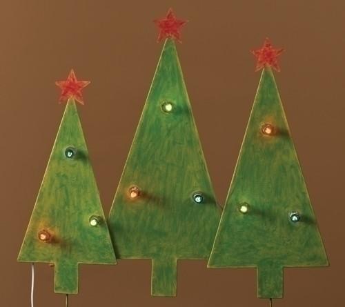 Christmas Tree Trio: Christmas Tree Trio Outdoor Lighted Outdoor Decoration 2.5