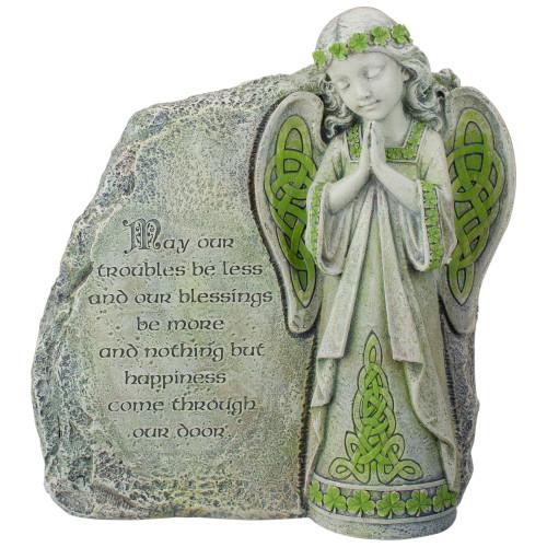 "9.75"" Gray Joseph's Studio Irish Blessing Angel Outdoor Patio Garden Statue - IMAGE 1"
