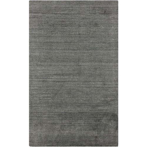 3.5' x 5.5' Gray Hand-Knotted Solid Area Throw Rug - IMAGE 1