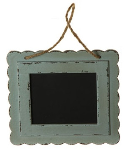 """10"""" French Countryside Horizontal Green Distressed Frame Hanging Chalkboard Wall Decor - IMAGE 1"""