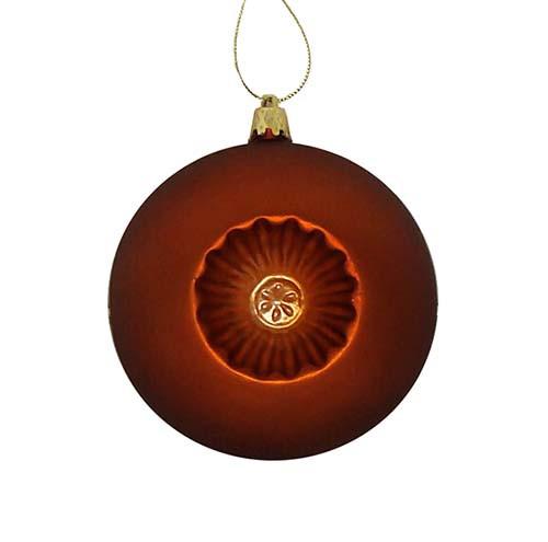 Matte Burnt Orange Shatterproof Christmas Ball Ornament 4 100mm Christmas Central