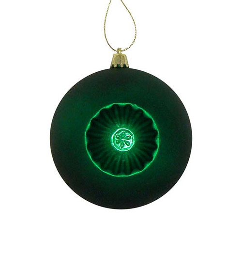 "6ct Xmas Green Retro Reflector Shatterproof Matte Christmas Ball Ornaments 4"" (100mm) - IMAGE 1"