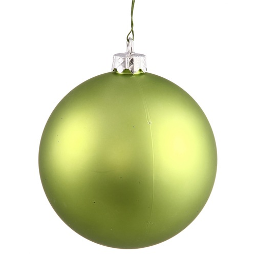"Matte Lime Green Shatterproof Christmas Ball Ornament 2.75"" (70mm) - IMAGE 1"