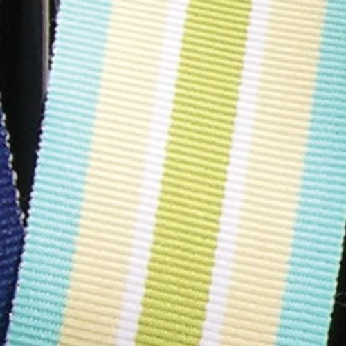"""Lime Green and Yellow Striped Woven Grosgrain Craft Ribbon 1.25"""" x 55 Yards - IMAGE 1"""