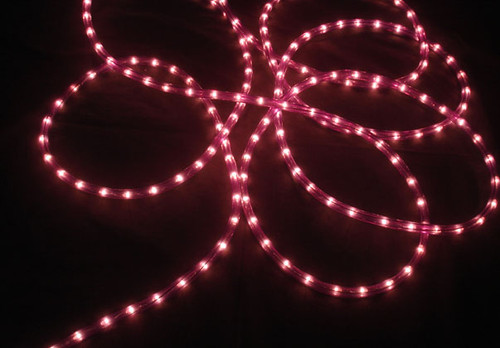 Purple Commercial Rope Mini Christmas Light Set, 100ft White Wire - IMAGE 1