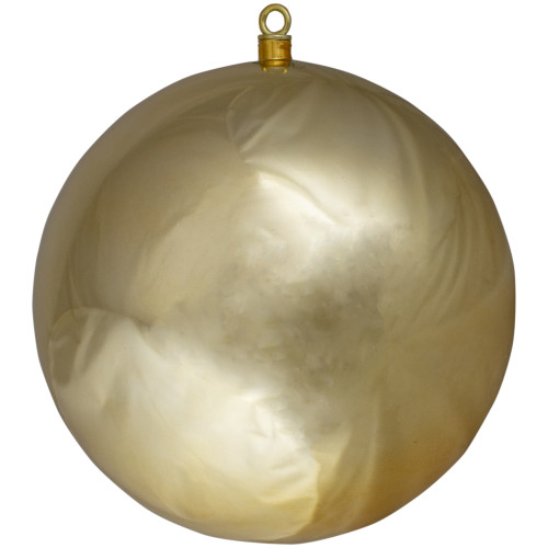 """Shiny Gold Commercial Drilled Shatterproof Christmas Ball Ornament 15.75"""" (400mm) - IMAGE 1"""