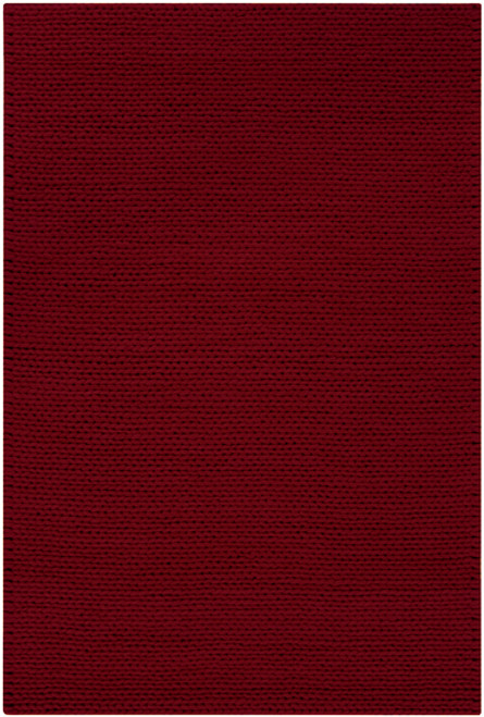 8' x 10' Bright Day Venetian Red Hand Woven New Zealand Wool Area Throw Rug - IMAGE 1