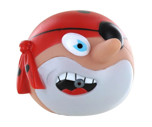 """3.25"""" Red and Black Pirate With Bullet Water Squirter Swimming Pool Water Toy - IMAGE 1"""