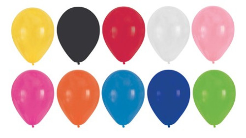 """Club Pack of 180 Subtle Colored Latex Party Balloons 12"""" - IMAGE 1"""
