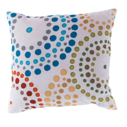 "18"" Blue and Red Nautica Shower Bursts Square Throw Pillow Cover - IMAGE 1"