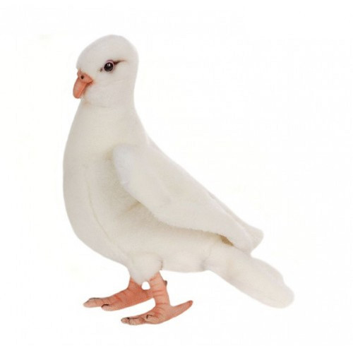 "Set of 4 White Handcrafted Soft Plush Dove Stuffed Animals 7.75"" - IMAGE 1"