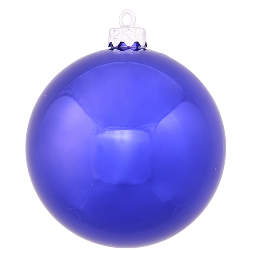 "Blue Shiny Shatterproof Christmas Ball Ornament 10"" (254mm) - IMAGE 1"