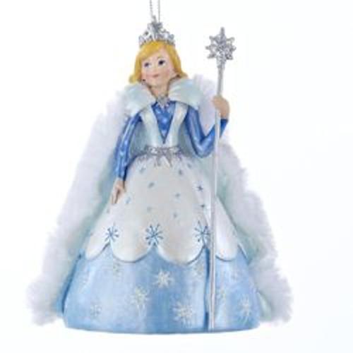 "4.75"" Blue and White Princess Garden Snow Queen Decorative Christmas Ornament - IMAGE 1"
