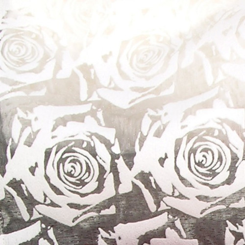 """Sheer Ivory Roses Wired Craft Ribbon 3"""" x 20 Yards - IMAGE 1"""