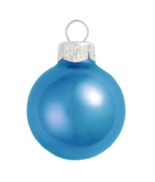 "28ct Cobalt Blue Glass Metallic Christmas Ball Ornaments 2"" (50mm) - IMAGE 1"