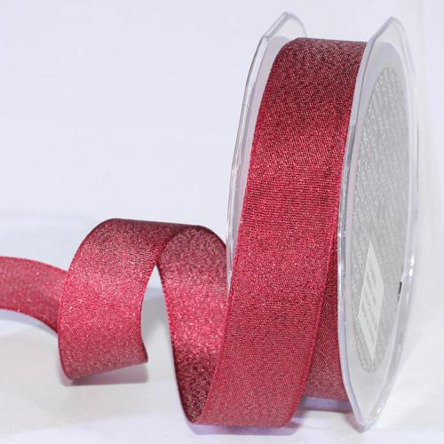"Set of 4 Sparkly Burgundy Taffeta Woven Edge Craft Ribbon 1"" x 108 Yards - IMAGE 1"