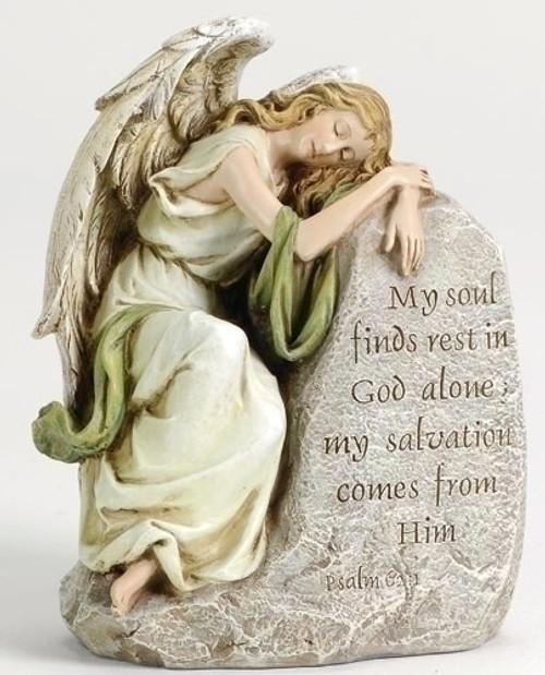 "Joseph's Studio Reclining Somber Angel Memorial Figure 8"" - IMAGE 1"