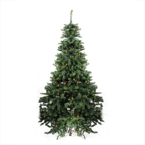 7' Pre-Lit Full Canadian Pine Artificial Christmas Tree - Clear and Pure LED Lights - IMAGE 1