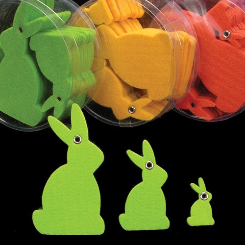 """Club Pack of 144 Green Fuzzy Easter Bunnies 3"""" - IMAGE 1"""