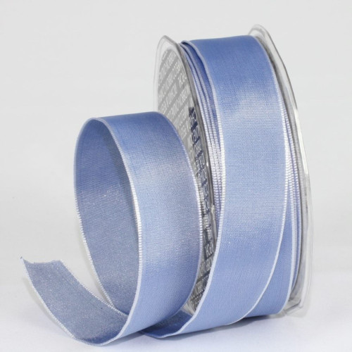 """Ocean Blue Solid Wired Craft Ribbon 1"""" x 54 Yards - IMAGE 1"""
