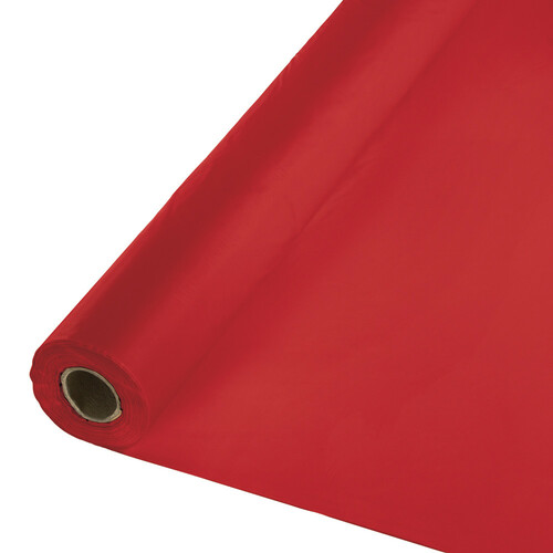Pack of 6 Red Disposable Banquet Party Table Cover Rolls 100' - IMAGE 1