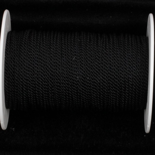 "Black Braided Cording Craft Ribbon 0.1"" x 220 Yards - IMAGE 1"