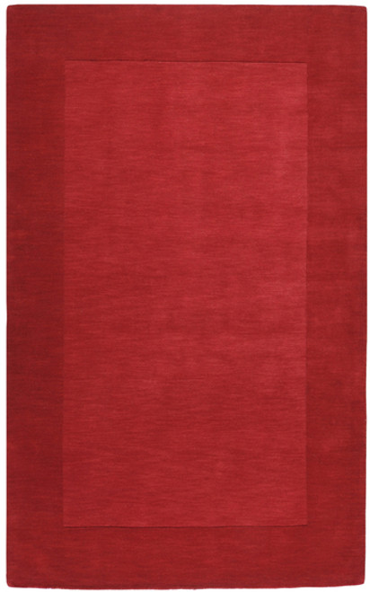 9' x 13' Solid Cherry Red Hand Loomed Rectangle Wool Area Throw Rug - IMAGE 1