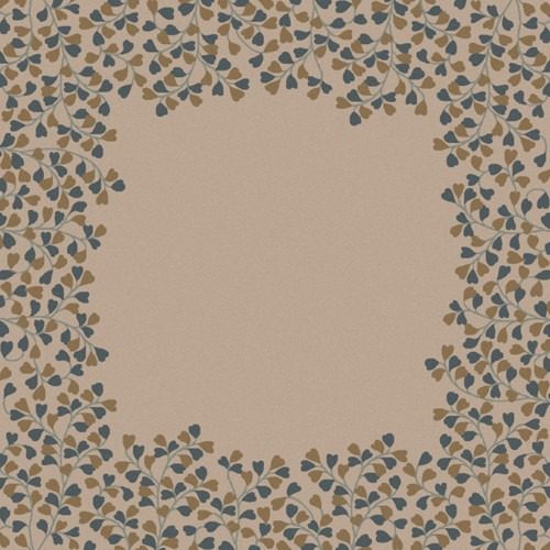 9.75' x 9.75' Brown and Gray Contemporary Hand Tufted Floral Square Wool Area Throw Rug - IMAGE 1