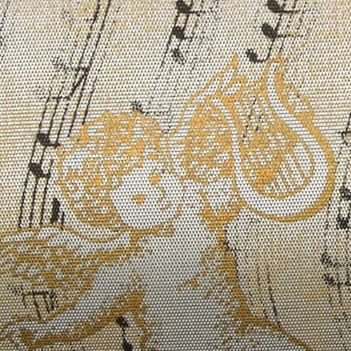 """Ivory and Gold Angel Wired Craft Ribbon 2.5"""" x 27 Yards - IMAGE 1"""