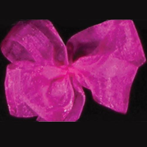 "Pink Azalea Solid Organdy Craft Ribbon 4"" x 55 Yards - IMAGE 1"