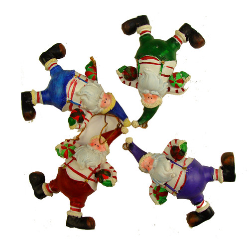 """Club Pack of 72 Santa Claus with Basketballs Christmas Ornaments 4"""" - IMAGE 1"""
