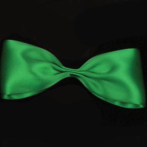 "Emerald Green Double Face Satin Craft Ribbon 0.25"" x 162 Yards - IMAGE 1"