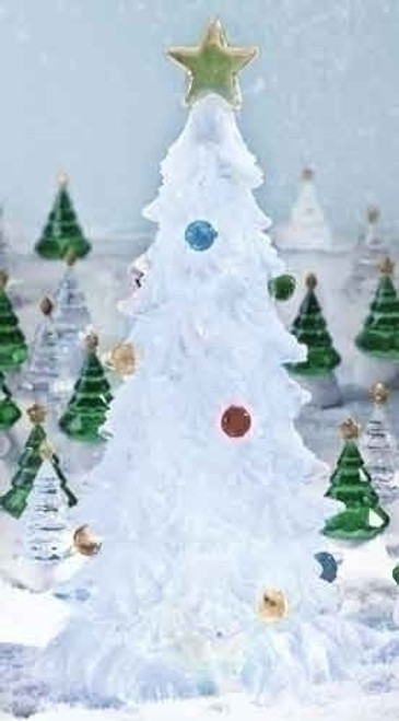 Set Of 3 Clear Led Color Changing Christmas Tree Table