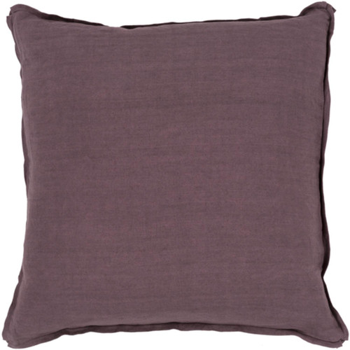 """22"""" Purple Hand Woven Decorative Square Throw Pillow - Poly Filled - IMAGE 1"""