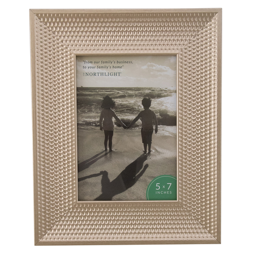 "5"" x 7"" Champagne Gold Honeycomb Rectangular Photo Frame 10.25"" - IMAGE 1"