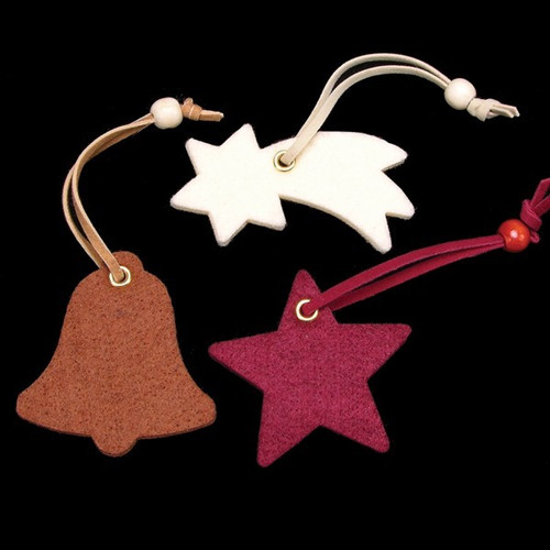 Club Pack of 42 Star, Bell, and Shooting Star Assorted Colors Felt Ornaments - IMAGE 1