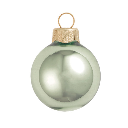 "Shiny Shale Green Glass Ball Christmas Ornament 7"" (180mm) - IMAGE 1"
