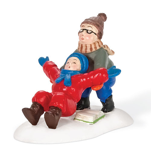 """2"""" Red and Blue Ralphie to the Rescue Christmas Figurine - IMAGE 1"""